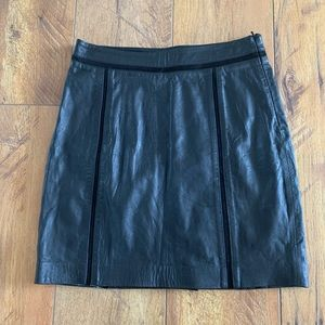 Mango Genuine Leather Skirt Size 4